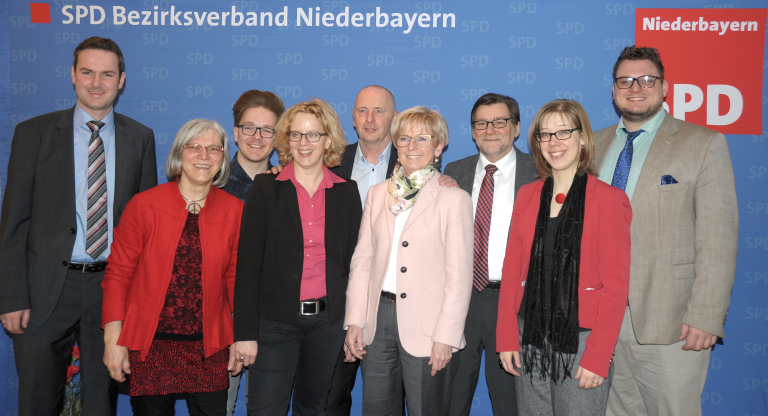 Bildunterschrift: Bezirks Kandidaten/innen 2018